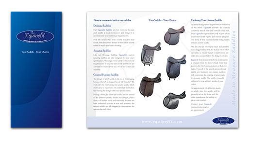 Equinefit Saddle brochure design